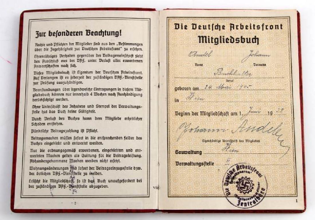 WWII GERMAN THIRD REICH LABOR DOCUMENT LOT - 3