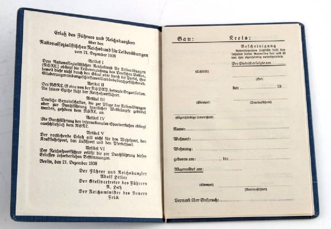 WWII GERMAN THIRD REICH LABOR DOCUMENT LOT - 4