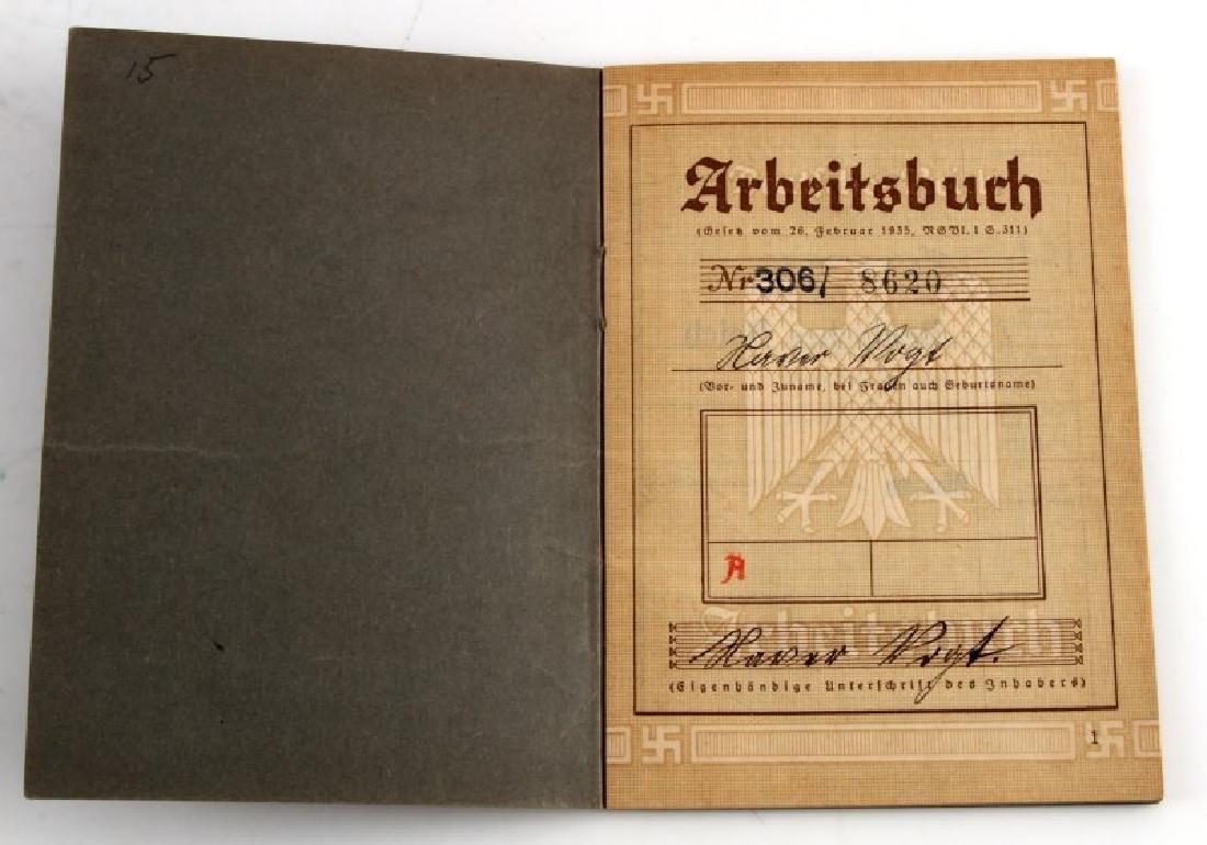 WWII GERMAN THIRD REICH LABOR DOCUMENT LOT - 5