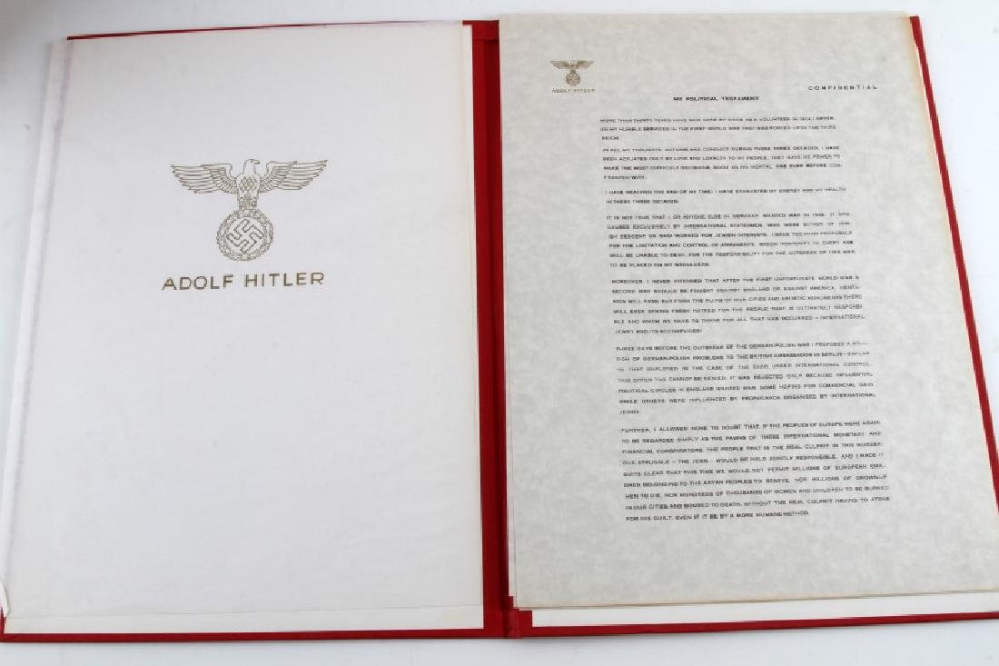 WWII GERMAN THIRD REICH REPRODUCTION HITLER PAPERS - 2