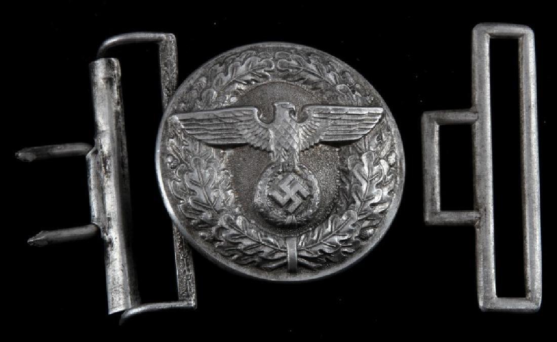 WWII GERMAN THIRD REICH NSDAP ALUMINUM BELT BUCKLE