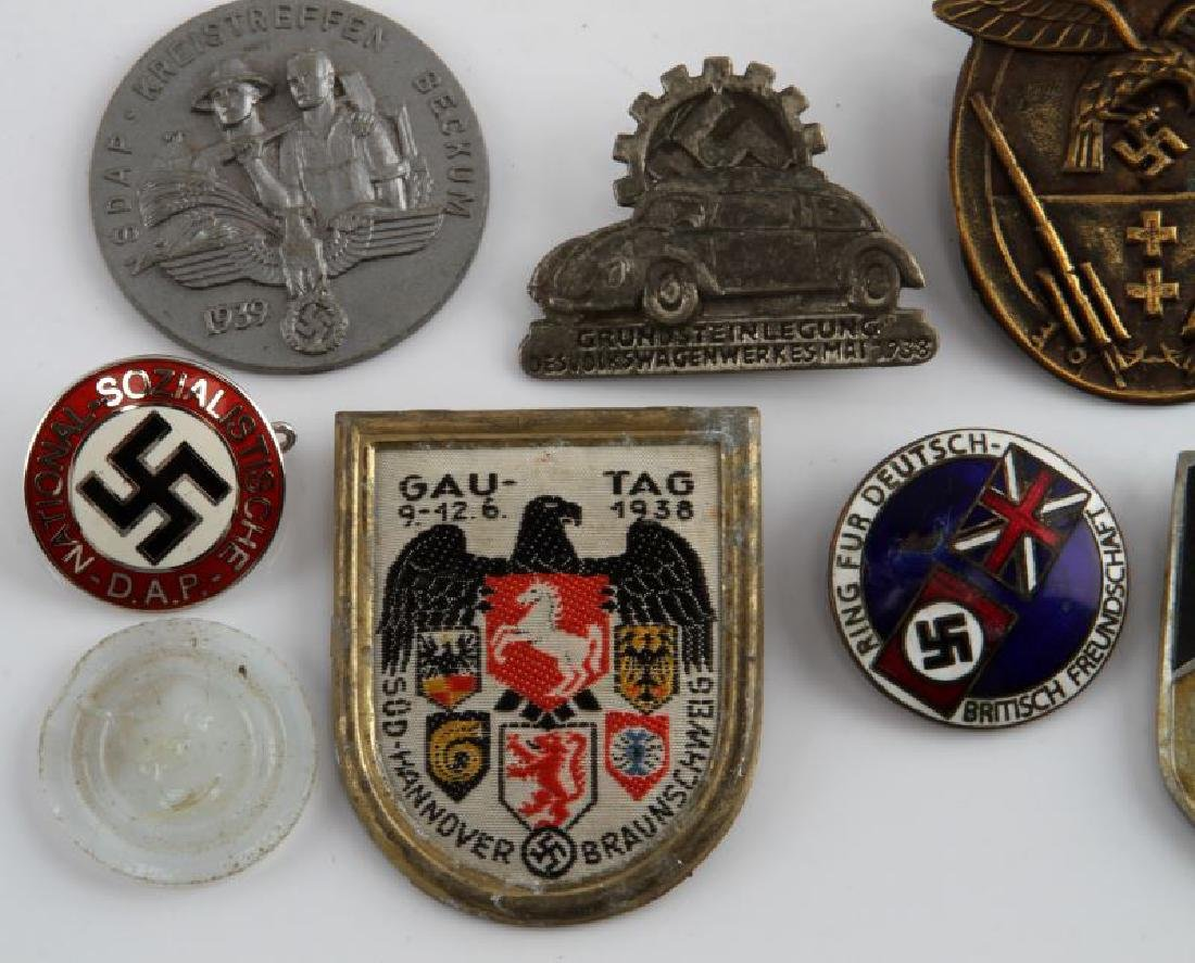 MIXED LOT OF 12 GERMAN WWII MEDALS TINNIES MORE - 2
