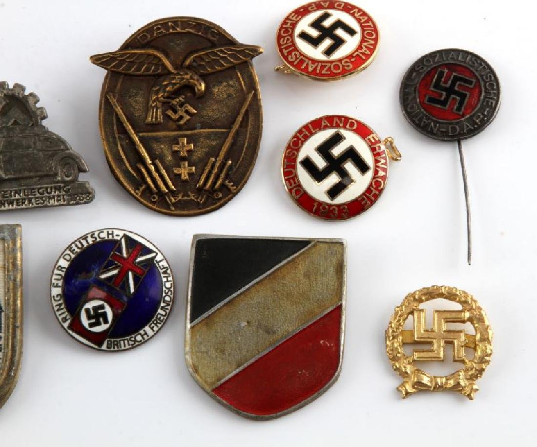 MIXED LOT OF 12 GERMAN WWII MEDALS TINNIES MORE - 3