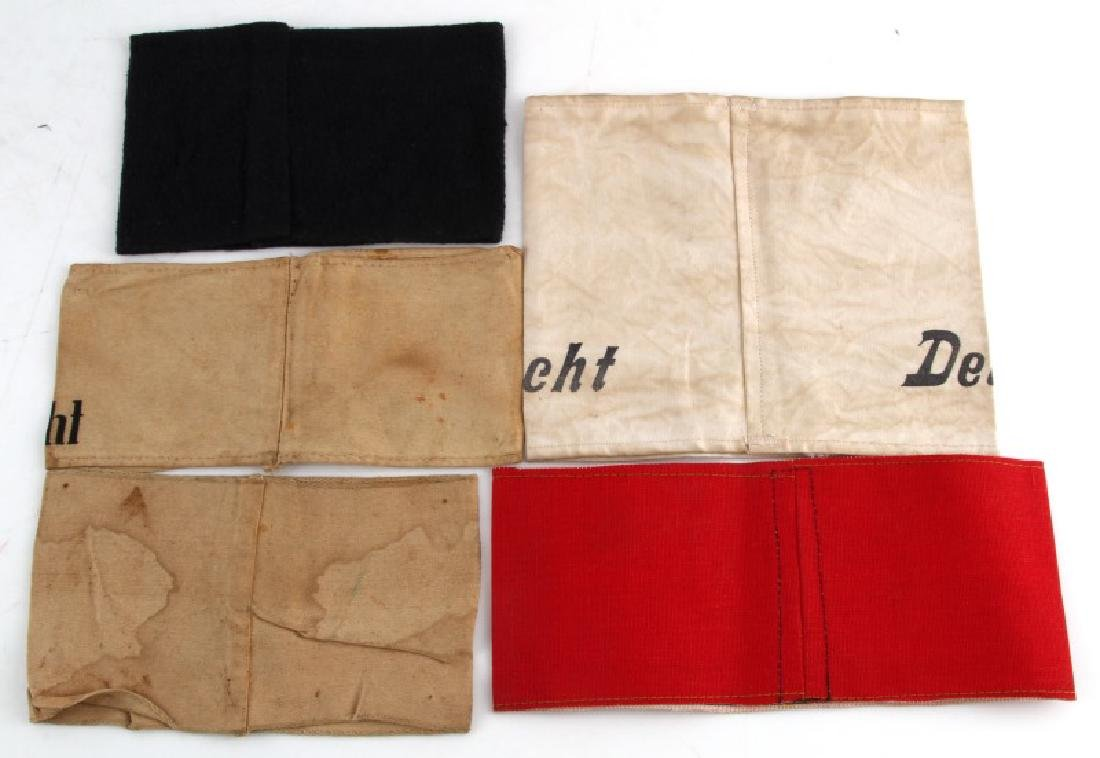 WWII GERMAN THIRD REICH VARIOUS ARMBAND LOT OF 5 - 2