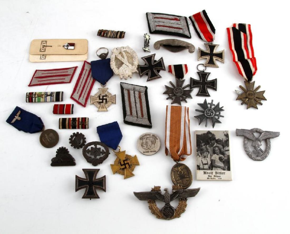 GERMAN WWII COLLECTION MEDALS BADGES PINS MORE