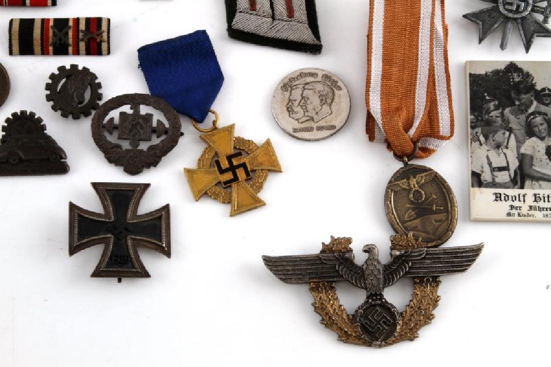 GERMAN WWII COLLECTION MEDALS BADGES PINS MORE - 4