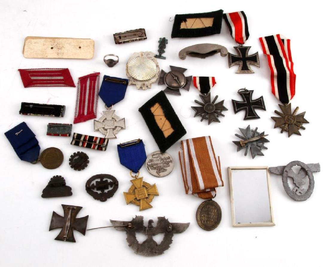 GERMAN WWII COLLECTION MEDALS BADGES PINS MORE - 7