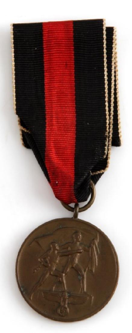 WWII GERMAN THIRD REICH SUDENTENLAND MEDAL 1938