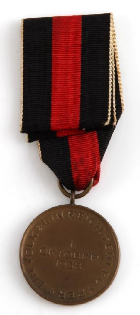 WWII GERMAN THIRD REICH SUDENTENLAND MEDAL 1938 - 2
