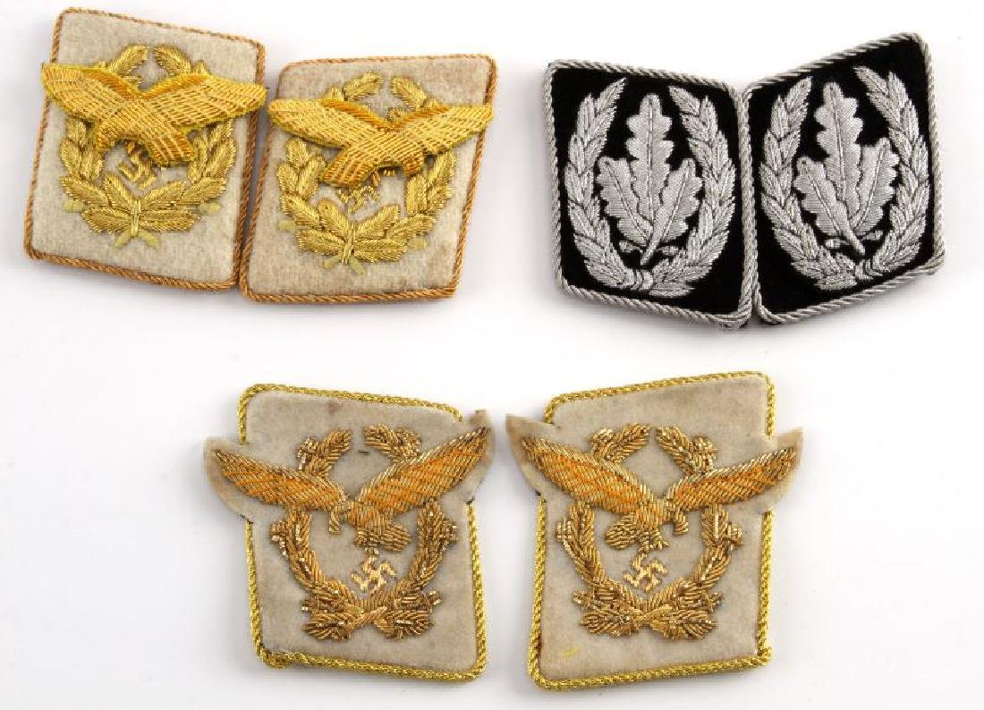 WWII GERMAN HIMMLER GOERING  COLLAR TAB LOT 3 PAIR