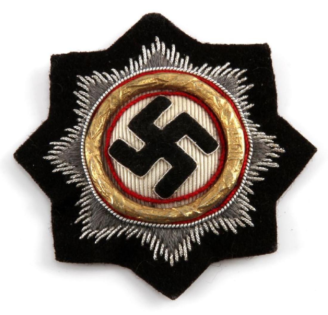 WWII THIRD REICH PANZER ISSUE CLOTH GERMAN CROSS