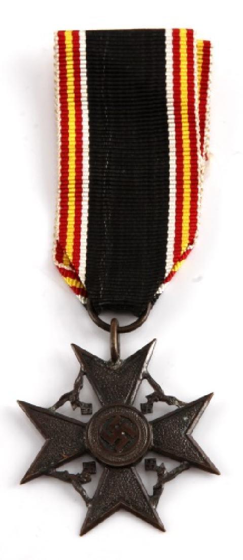 GERMAN WWII BRONZE SPANISH CROSS OF HONOR MEDAL