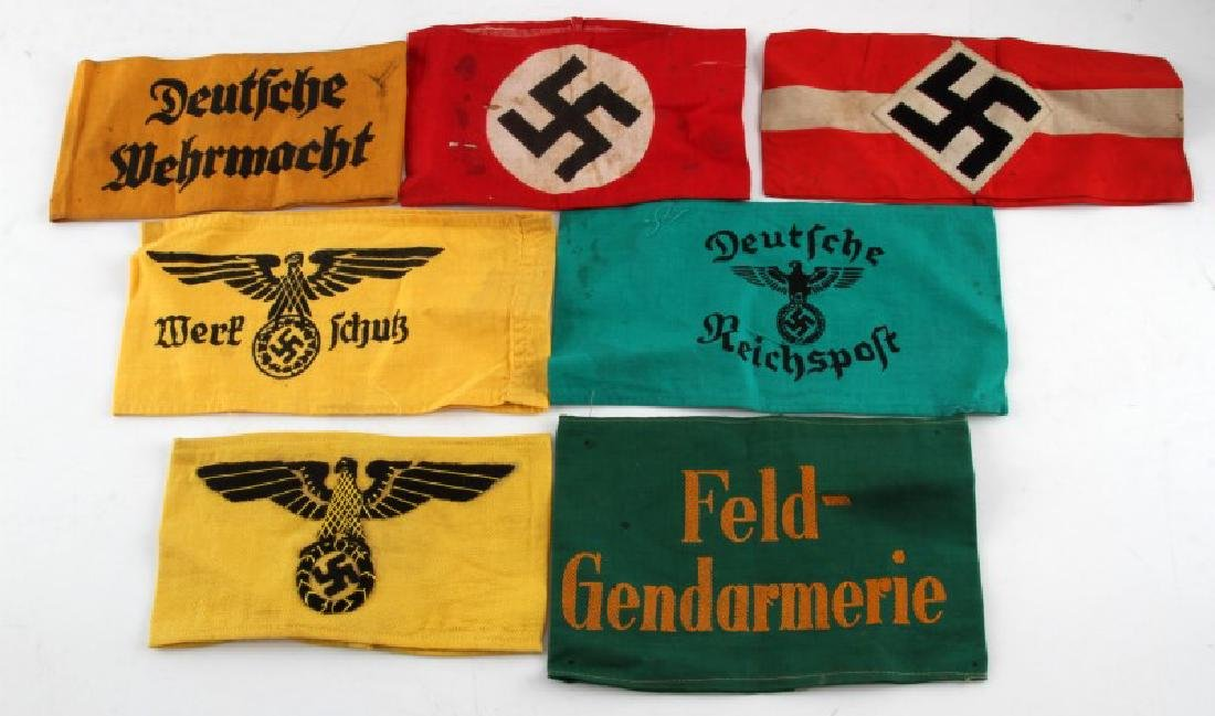 WWII GERMAN THIRD REICH ARMBAND LOT OF 7