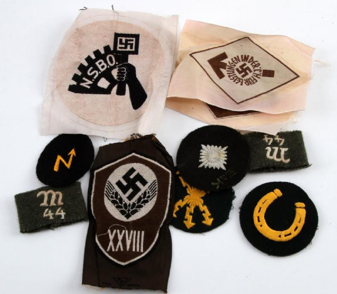 WWII GERMAN THIRD REICH ASSORTED PATCH LOT OF 10