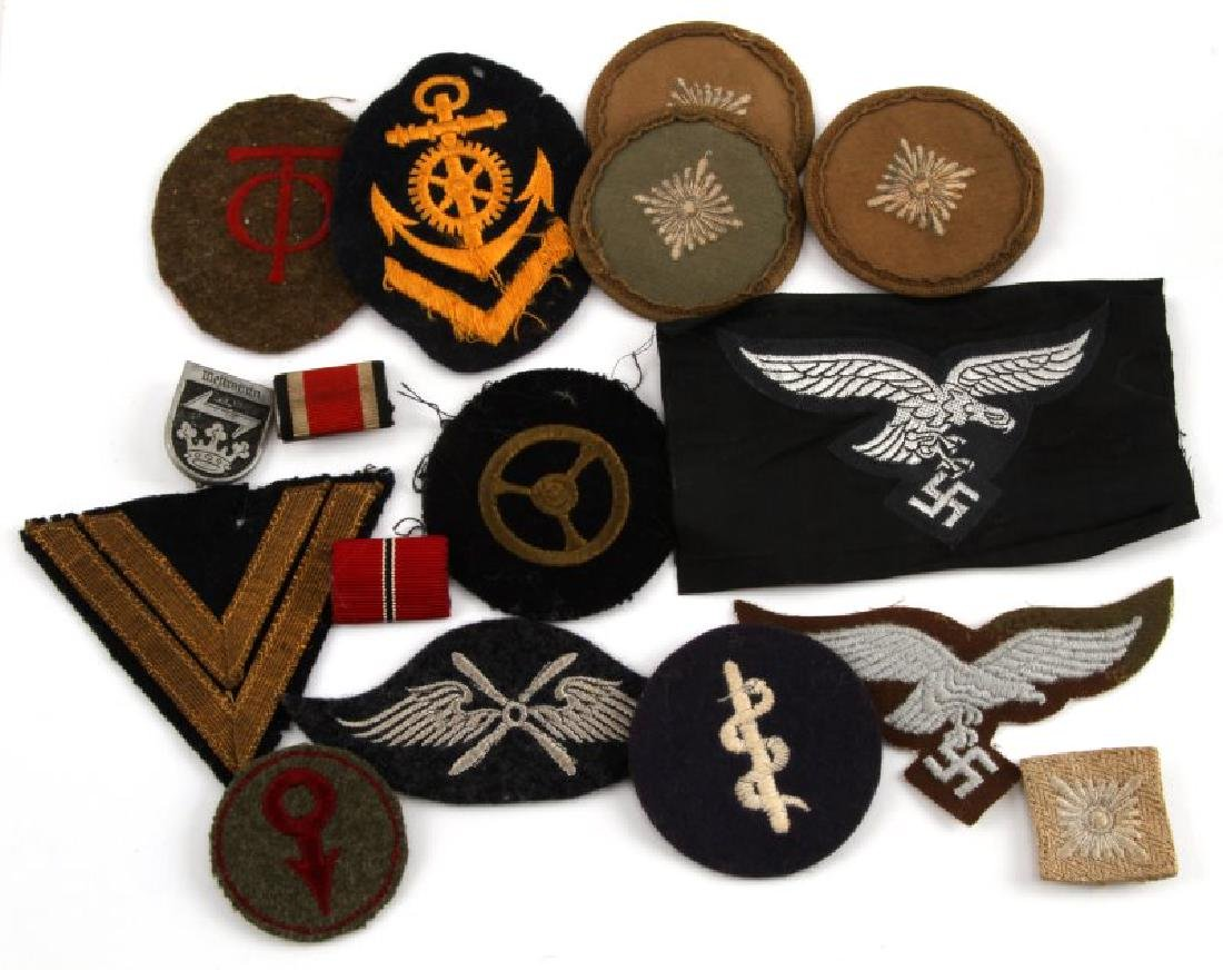WWII GERMAN THIRD REICH ASSORTED CLOTH PATCH LOT