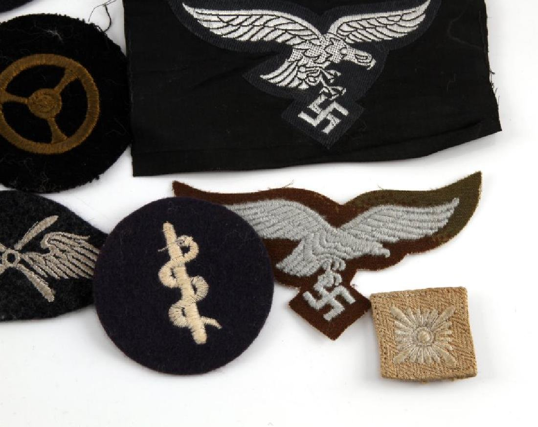 WWII GERMAN THIRD REICH ASSORTED CLOTH PATCH LOT - 4