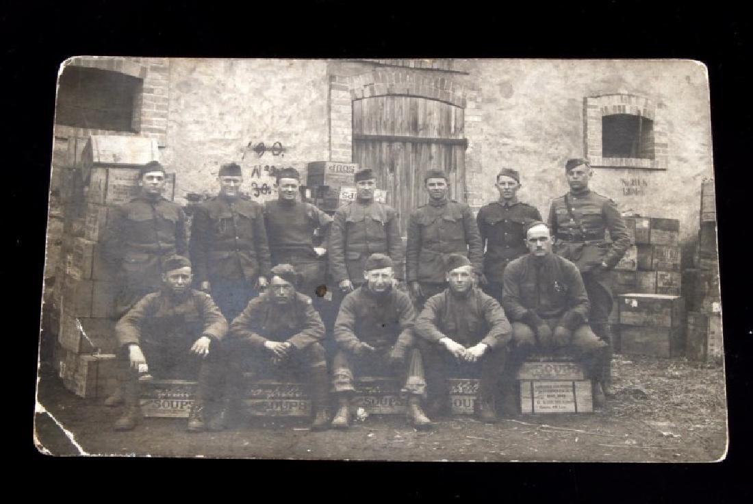 WWI PHOTO POSTCARD MESS COOKS CAMPBELLS SOUP