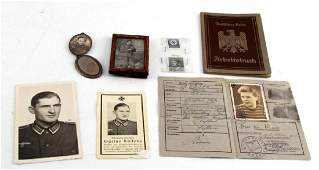 WWII GERMAN THIRD REICH PAPERS  PHOTOGRAPH LOT