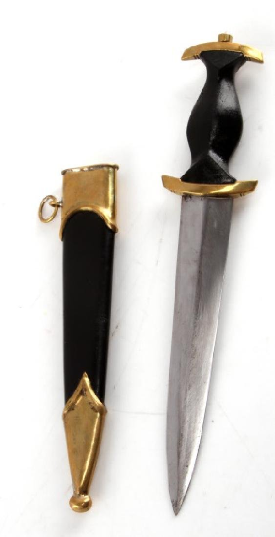 GERMAN WWII THIRD REICH SS MINI DAGGER W SCABBARD - 4