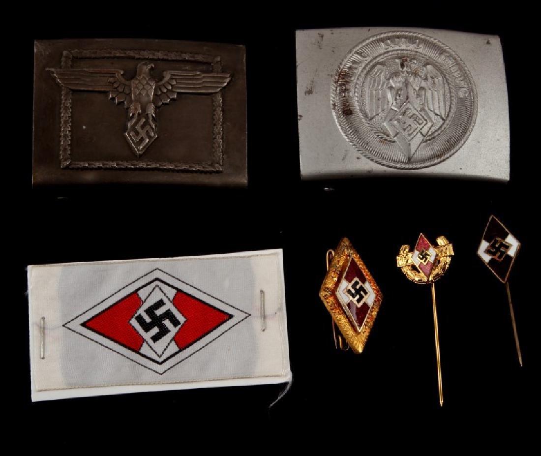 6 GERMAN WWII THIRD REICH HITLERJUGEND ITEM LOT