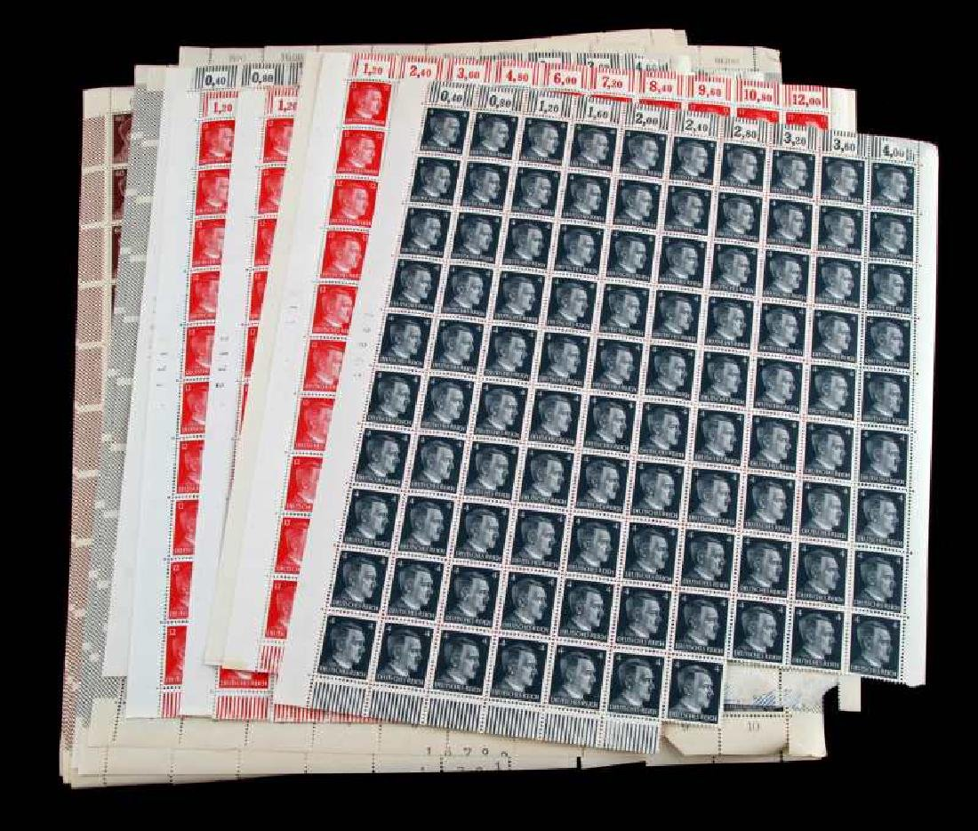 15 SHEET ADOLF HITLER POSTAGE STAMP LOT