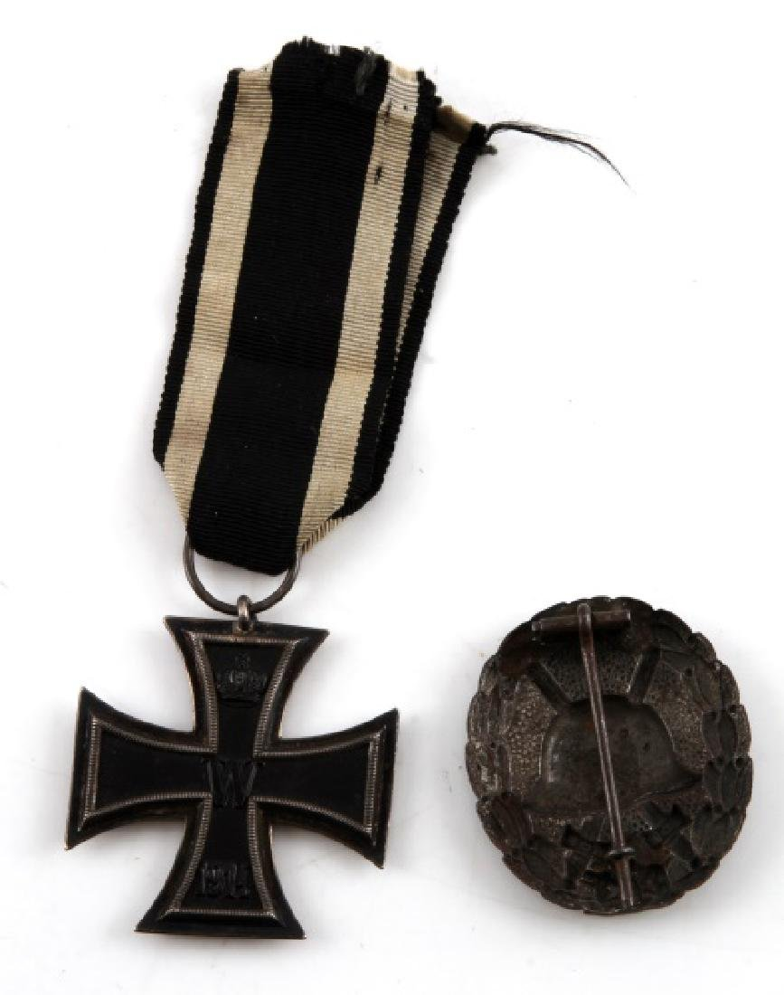 GERMAN WWII IRON CROSS 2ND CLASS & WOUND BADGE - 2