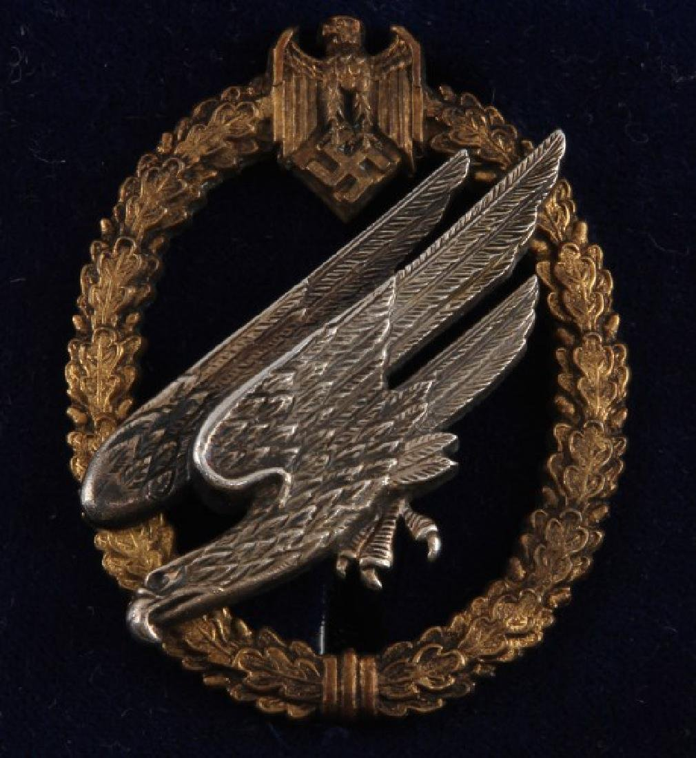 GERMAN WWII LUFTWAFFE PARATROOPER BADGE IN BOX - 2