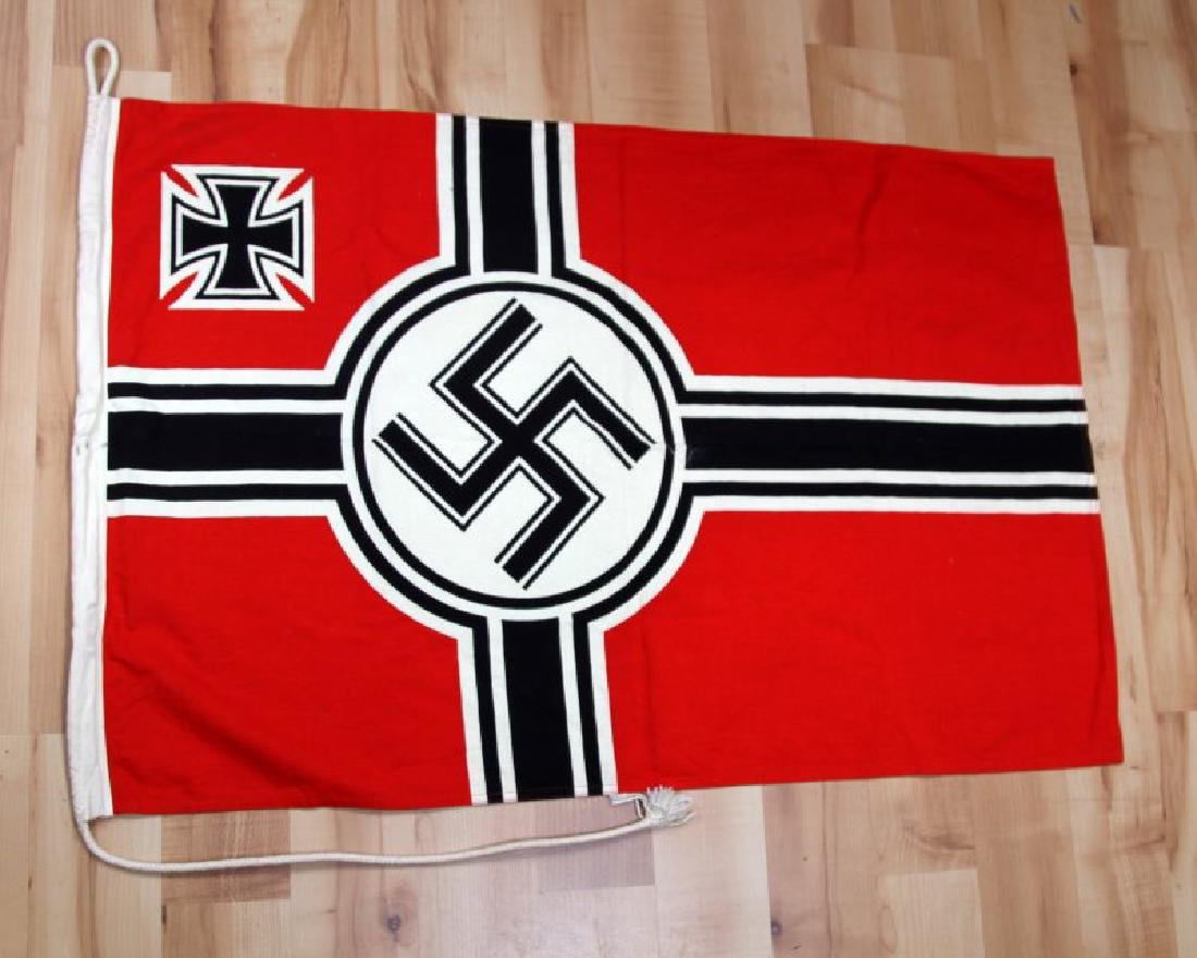 GERMAN WWII THIRD REICH KREIGSMARINE BATTLE FLAG
