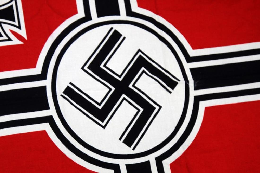 GERMAN WWII THIRD REICH KREIGSMARINE BATTLE FLAG - 2
