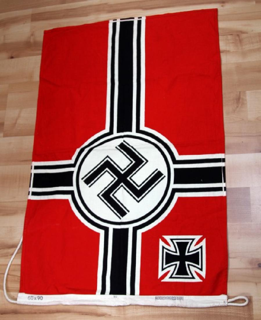 GERMAN WWII THIRD REICH KREIGSMARINE BATTLE FLAG - 3