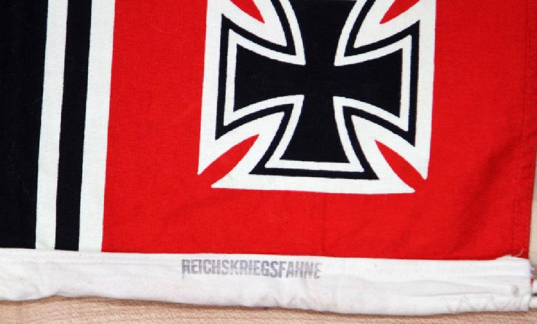 GERMAN WWII THIRD REICH KREIGSMARINE BATTLE FLAG - 4