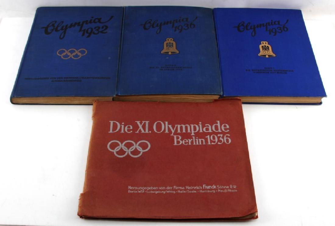 4 GERMAN WWII OLYMPIC TOBACCO CARD ALBUM LOT