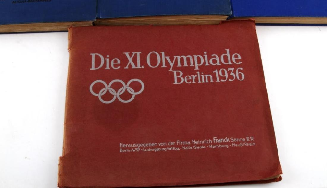 4 GERMAN WWII OLYMPIC TOBACCO CARD ALBUM LOT - 2