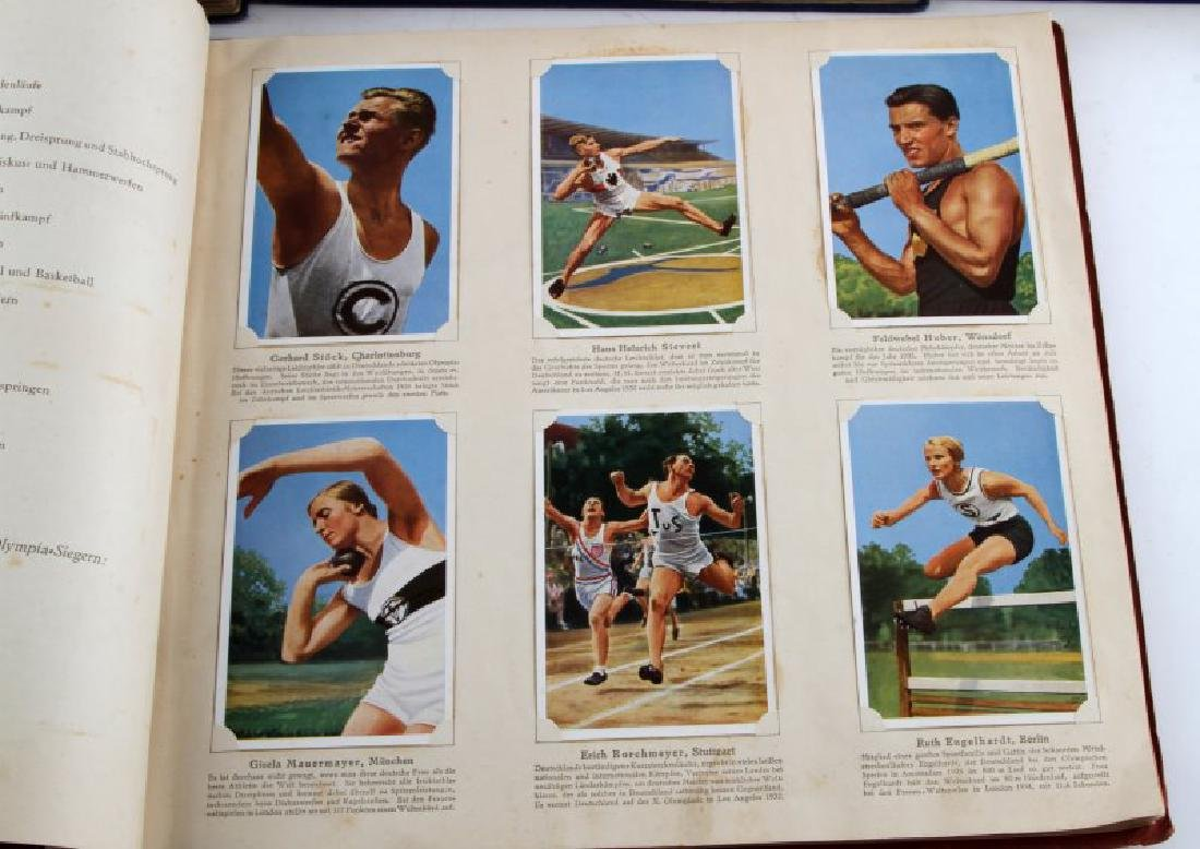 4 GERMAN WWII OLYMPIC TOBACCO CARD ALBUM LOT - 5