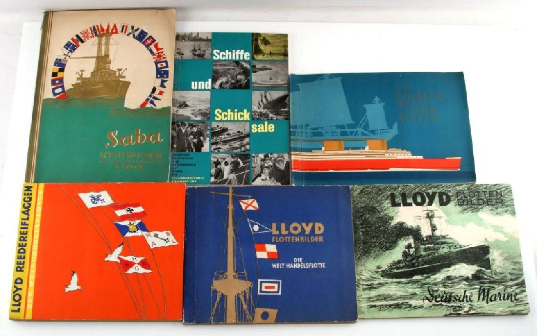 6 GERMAN WWII MILITARY NAVY TOBACCO CARD ALBUM LOT