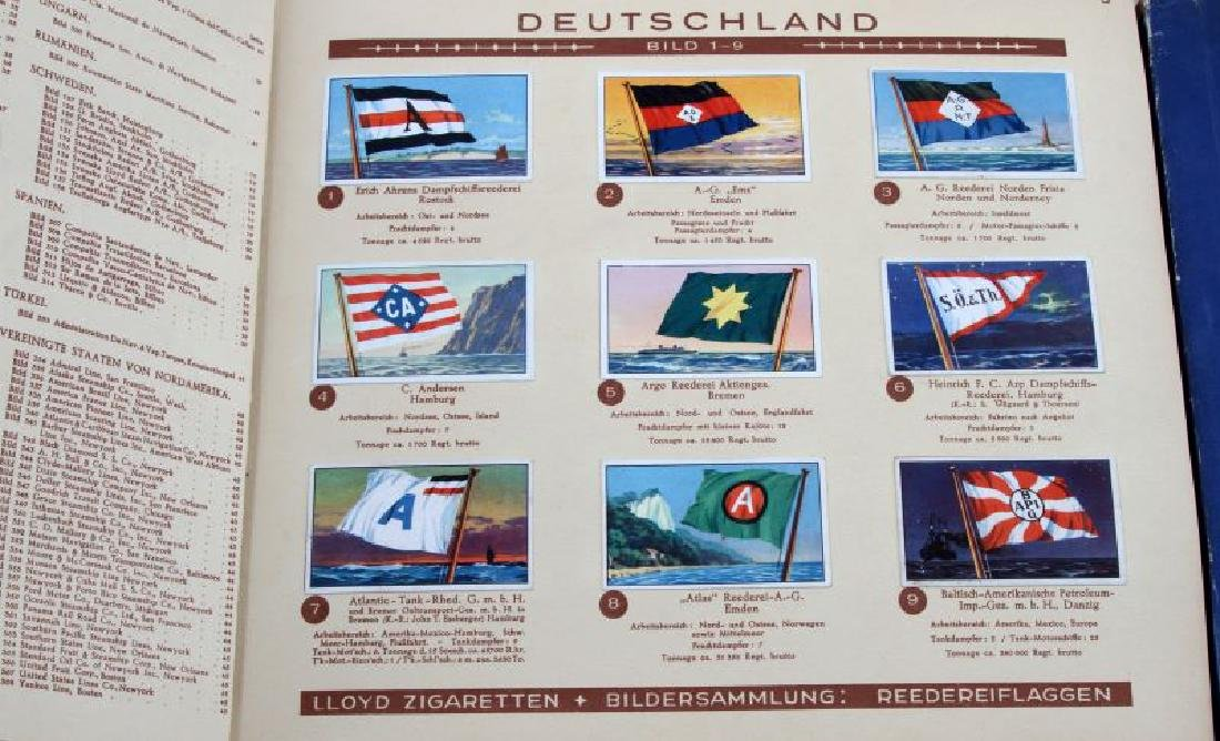 6 GERMAN WWII MILITARY NAVY TOBACCO CARD ALBUM LOT - 2
