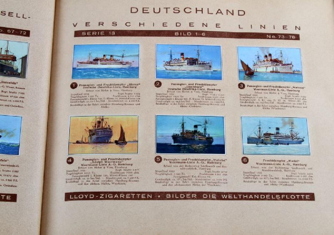 6 GERMAN WWII MILITARY NAVY TOBACCO CARD ALBUM LOT - 3