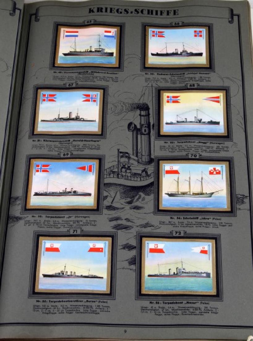6 GERMAN WWII MILITARY NAVY TOBACCO CARD ALBUM LOT - 9
