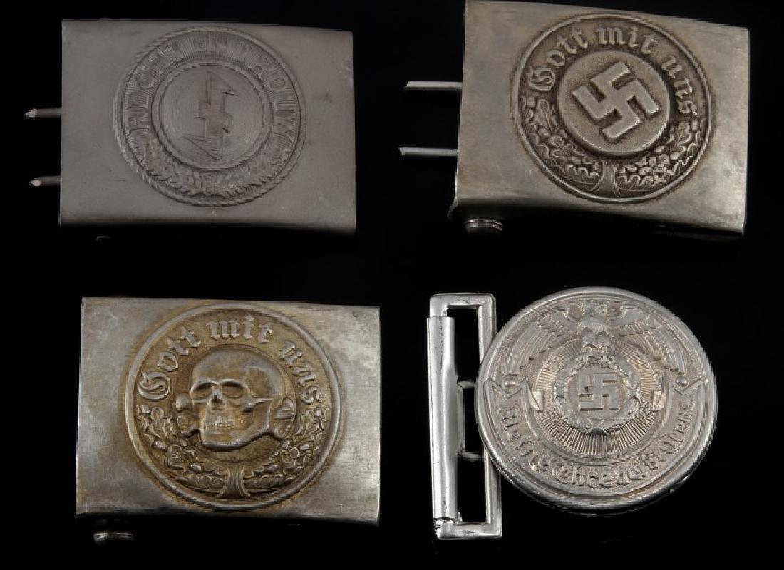 4 GERMAN WWII 3RD REICH BELT BUCKLES TOTENKOPF ETC