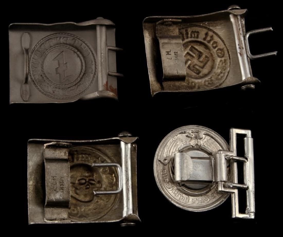 4 GERMAN WWII 3RD REICH BELT BUCKLES TOTENKOPF ETC - 2