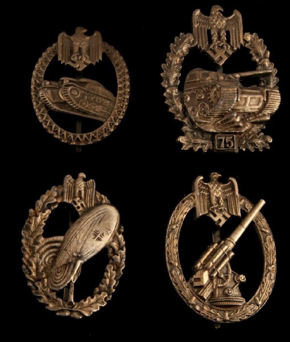4 GERMAN WWII THIRD REICH HEER BADGE LOT