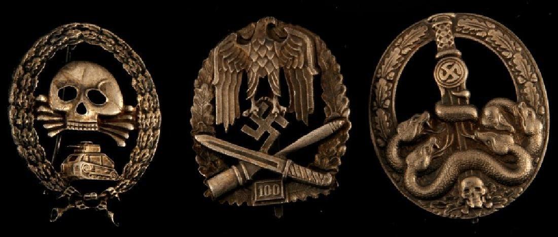 3 GERMAN WWII THIRD REICH HEER BADGE LOT