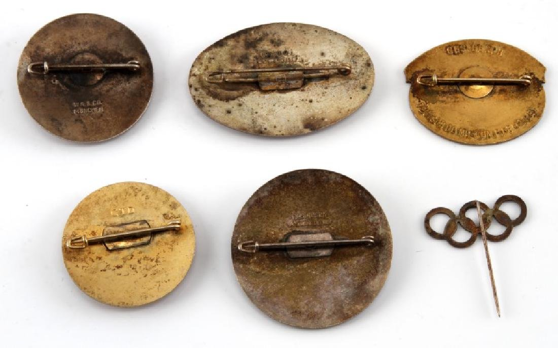 6 GERMAN WWII 1936 OLYMPIC PINS AND BADGES - 2