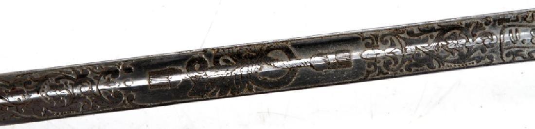 NAMED US NAVY PATTERN 1852 OFFICER SABER - 6