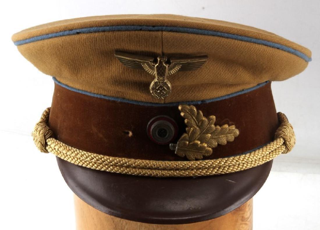 WWII GERMAN THIRD REICH TAN SA VISOR CAP