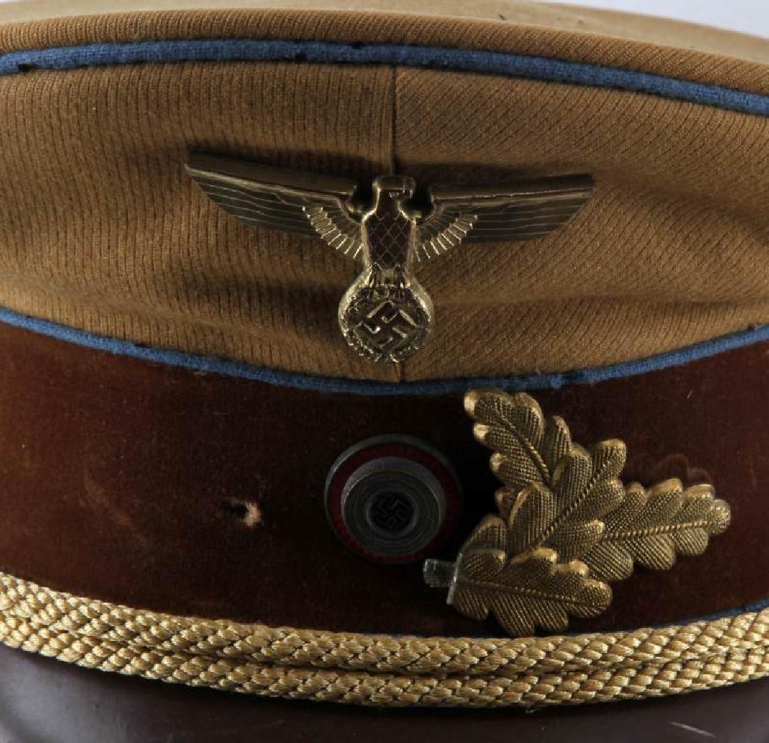 WWII GERMAN THIRD REICH TAN SA VISOR CAP - 2