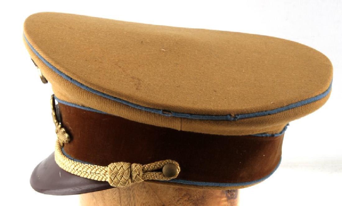 WWII GERMAN THIRD REICH TAN SA VISOR CAP - 3