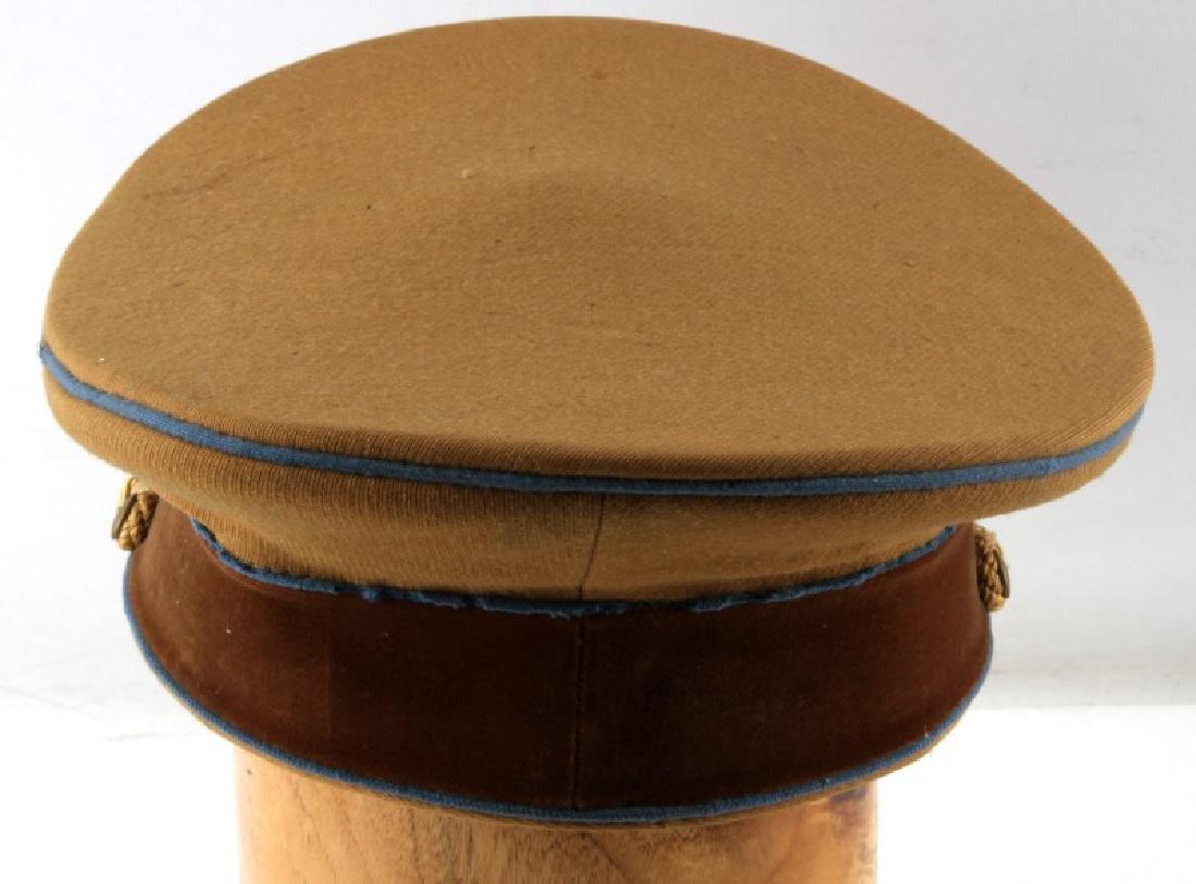 WWII GERMAN THIRD REICH TAN SA VISOR CAP - 4
