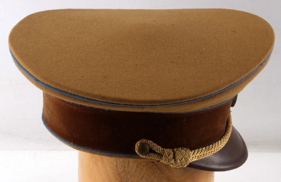 WWII GERMAN THIRD REICH TAN SA VISOR CAP - 5