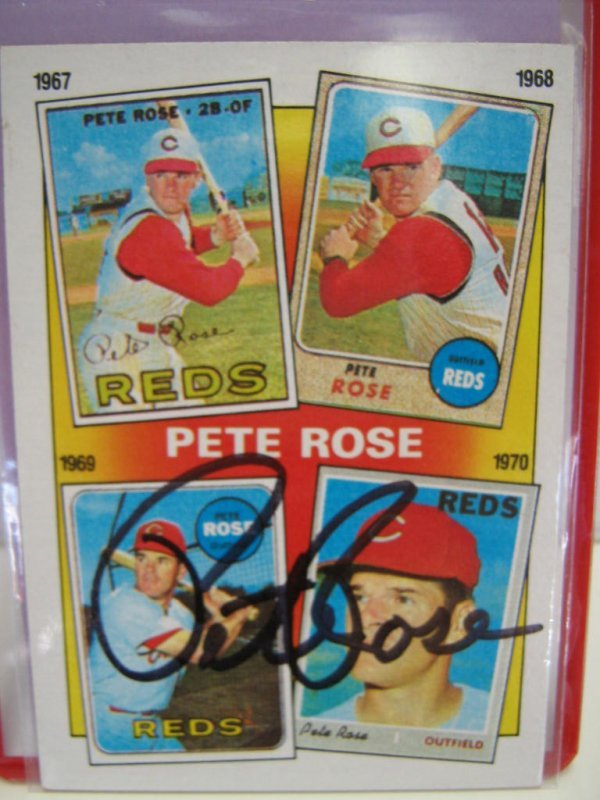 PETE ROSE AUTOGRAPH SIGNED 1986 TOPPS CARD W COA